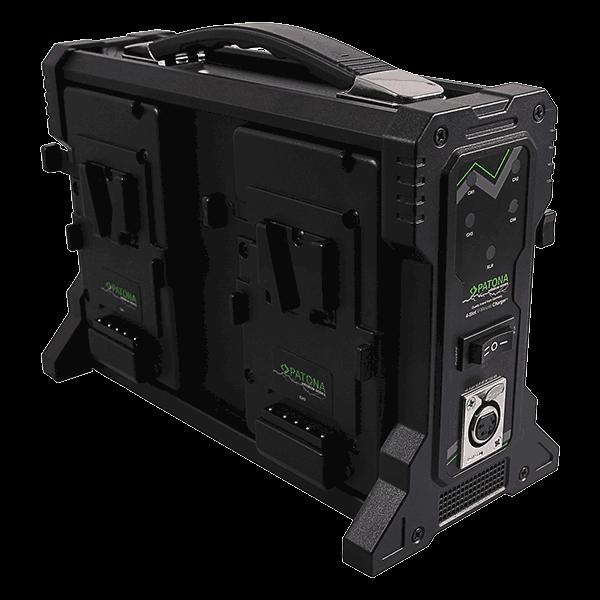 4-fach V-Mount Ladegerät für Sony BP-90W BP190WS von Patona