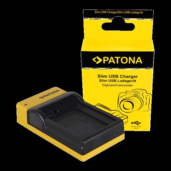 Slim Micro-USB Ladegerät für Nikon EN-EL14 von Patona