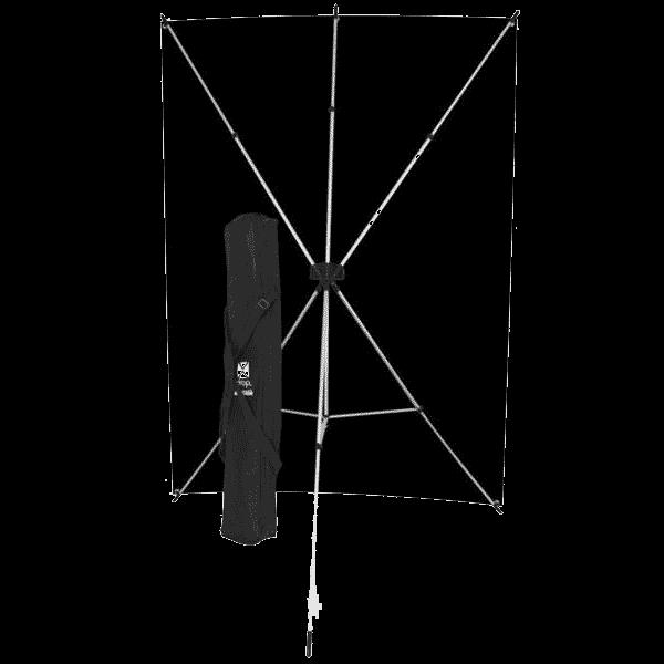 Westcott X-Drop Hintergrund Kit mit schwarz 1.5x2.1m